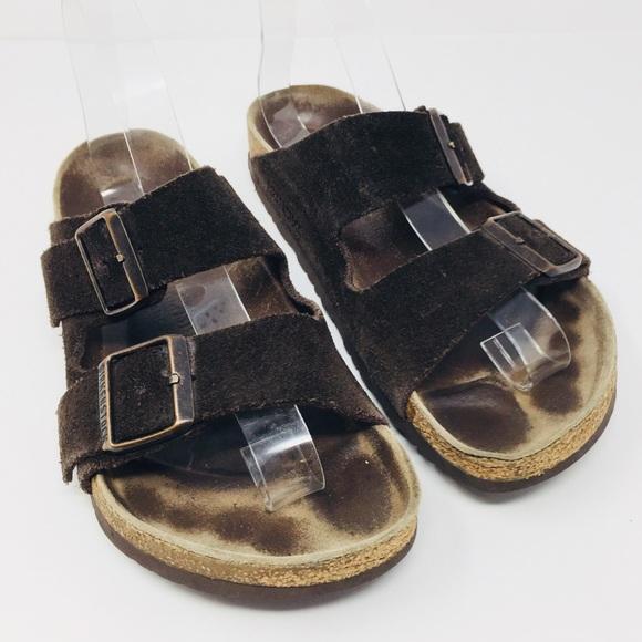 b8346d2b14e Birkenstock Shoes - Birkenstock Arizona Mocha Suede Sandals Size 38